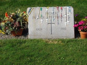 Grave of Servant of God, Fr. Patrick Peyton in Easton Mass