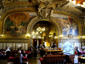 Elegant dining at Le Train Bleu in Gare du Nord train station