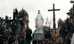 Statue of the Blessed Mother at the Hill of the Crosses in Lithuania