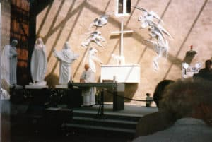 Mass at the Shrine in Knock, Ireland