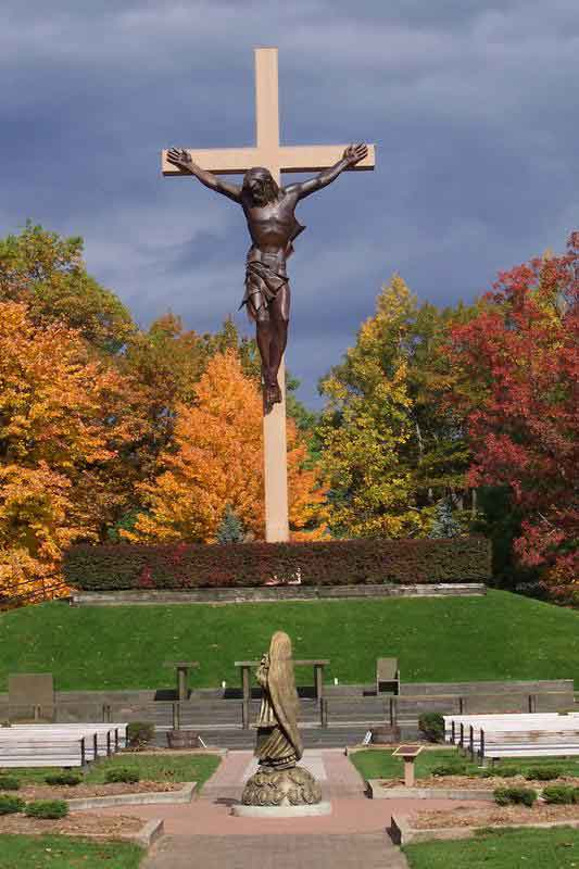 Indian river michigan the national shrine of the cross - Exterior church crosses for sale ...
