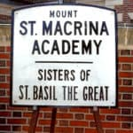 Sign for Mount St. Macrina Academy