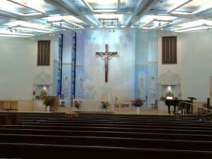 nterior of the Shrine fo the Most Holy Redeemer in Las Vegas
