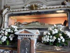 Incorrupt body of Saint Angela Merici in Brescia, Italy