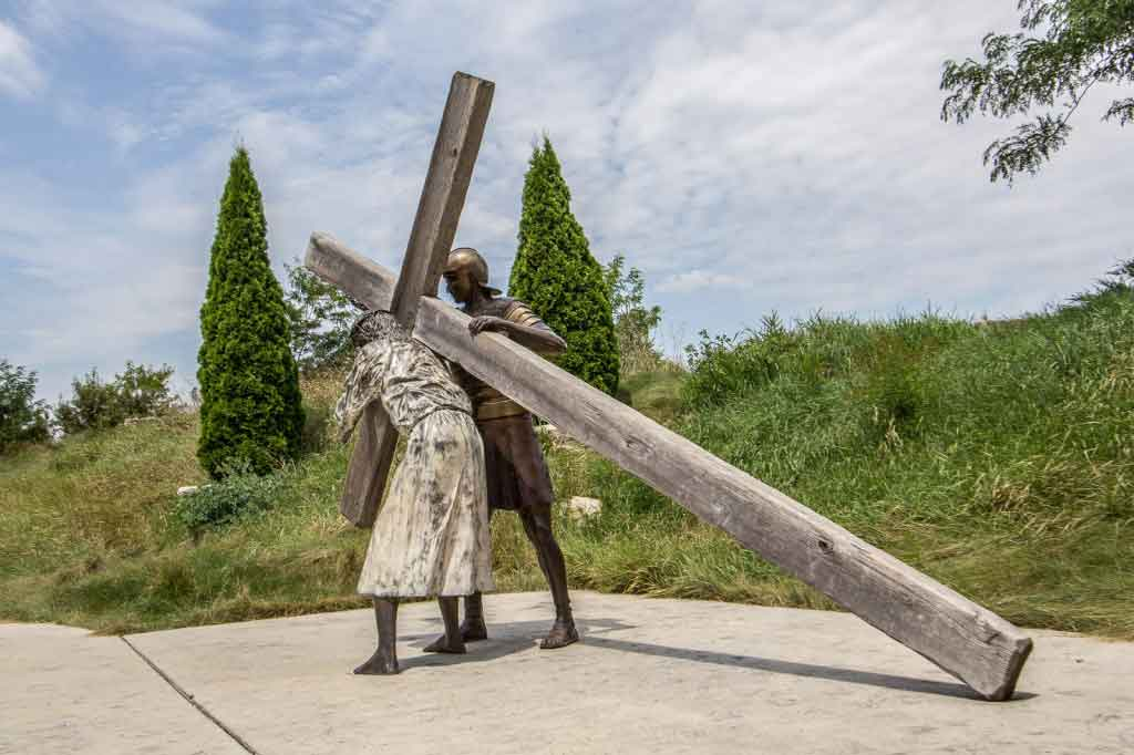 Jesus Accepts His Cross at Shrine of Christ;s Passion in Indiana