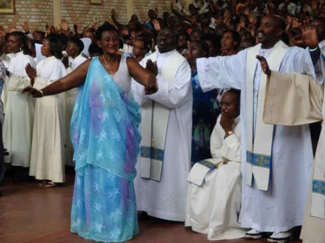 Mass in the Chapel at the Shrine of Our Lady of Kibeho