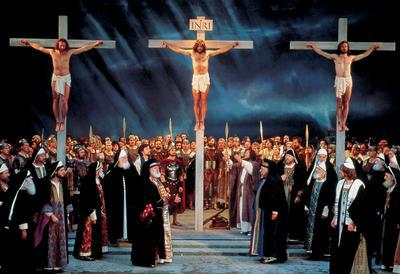 The crucifixion Scene in the play