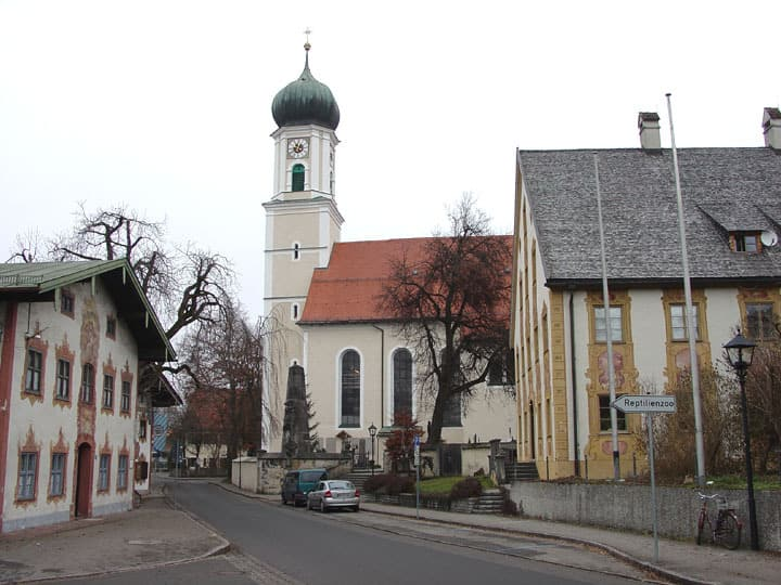 The village church in Oberammergau