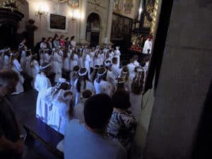 First Holy Communion in the church