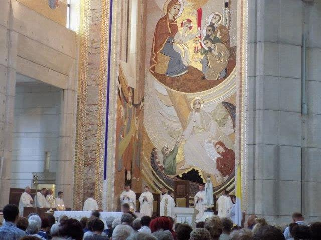 Mass at the John Paul II Center in Krakow