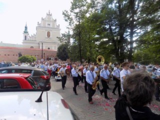 Another view of the procession at the Basilica of Our Lady of Lezajak