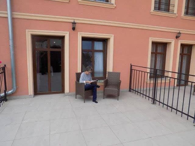 Our Patio was bigger than our apartment in Legnica