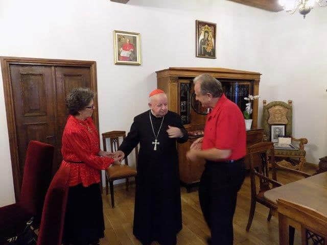 So nice to be with Cardinal Dziwisz again