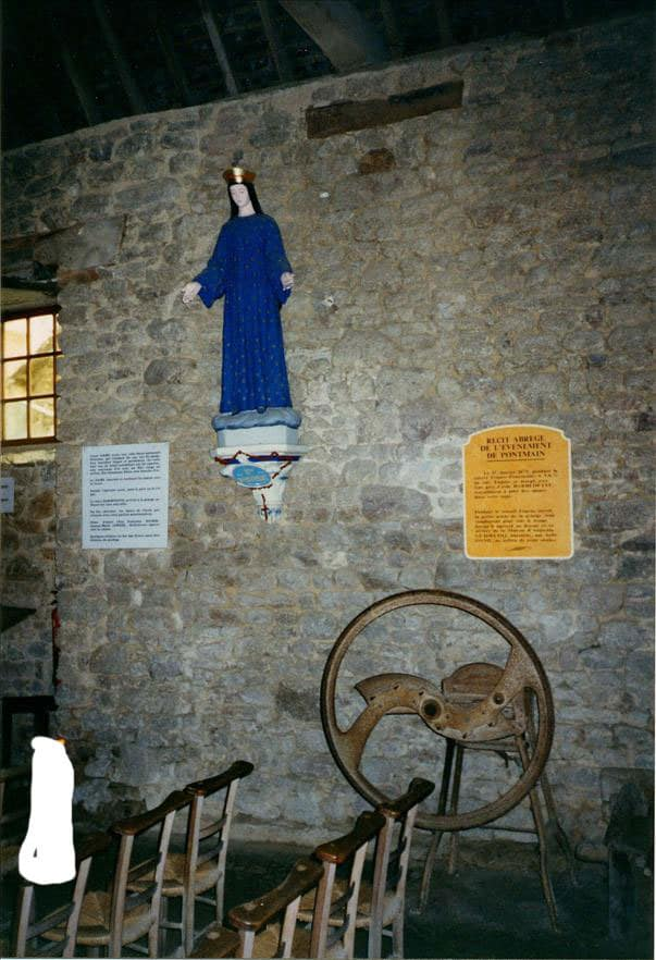 A statue of the Blessed Mother as she appeared in Pontmain