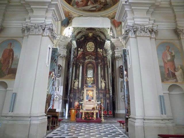The image above the altar shown here