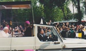 Pope John Paul II in Mexico City