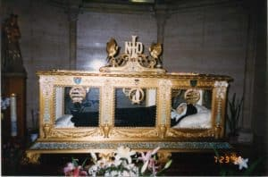 The incorrupt body of Saint Bernadette at the convent in Nevers, France