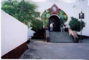Entrance to the Church of the Fifth Apparition
