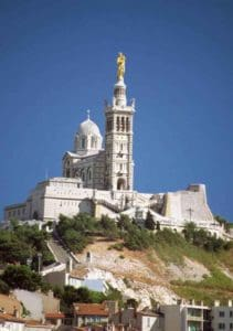 Our Lady of the Guard overlooks Marseille