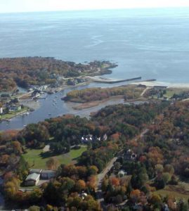 Overview of the retreat center in Kennebunkport, Maine