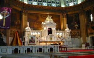 Main altar of the Basilica of Our Lady of Sorrows in Chicago, Illinois