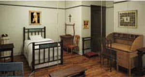 The room of Mother Cabrini at her shrine in Chicago