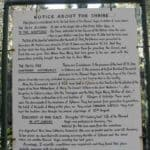 A sign here in Ephesus tells of the Holy House