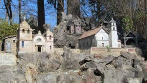 Just a portion of the Ave Maria Grotto in Cullman, Alabama...photo courtesy Wikimedia