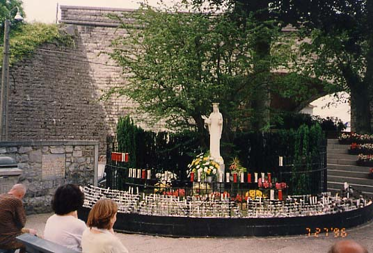 Site of the apparitions in Beauraing, Belgium