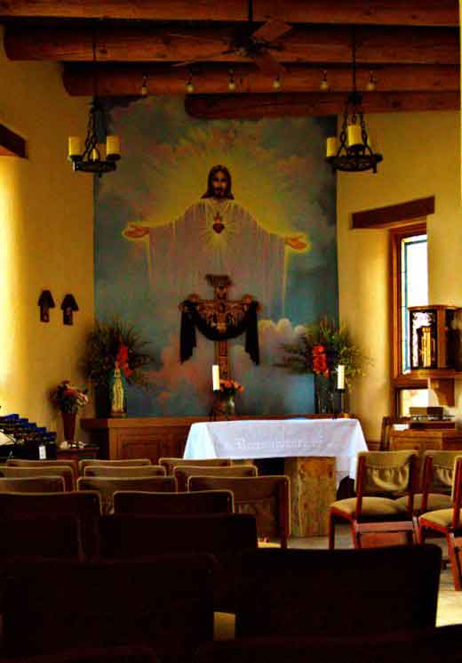 Interior of the Chapel of Our Lady of the Sierras