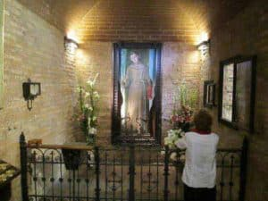 Praying at the Shrine of the Vision in Camposampiero