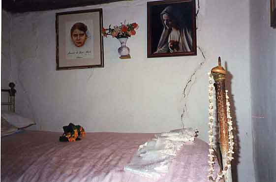 Here is the simple bedroom of Fatima visionary Jacinta