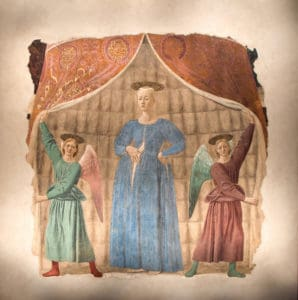 The fresco as you can view it today (Photo courtesy Sanctuary of Madonna del Parto)