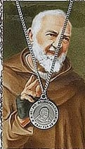 Get this Padre Pio prayer card and medal