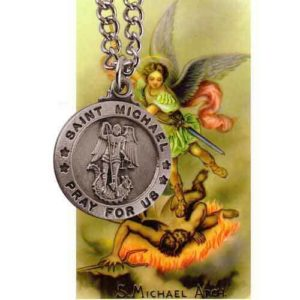 Check out this Saint Michael prayer card and medal
