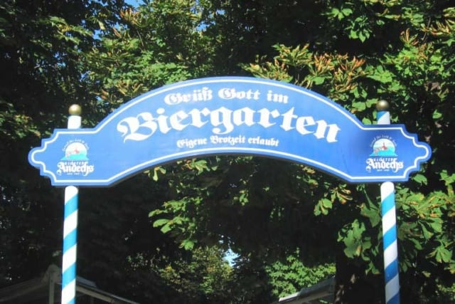Entrance to the Biergarten at Andechs