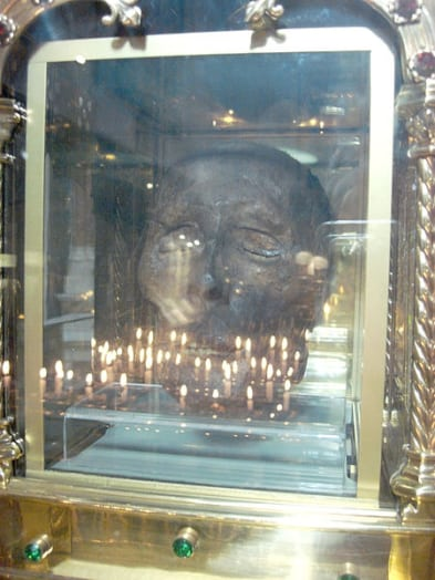 The head of St. Oliver Plunkett in his Shrine in Drogheda, Ireland