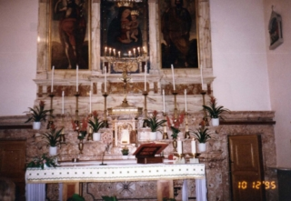 Altar where Padre Pio celebrated Mass (above was his favorite picture)