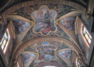 The ceiling of the Church of Saint Paul's Shipwreck in Malta