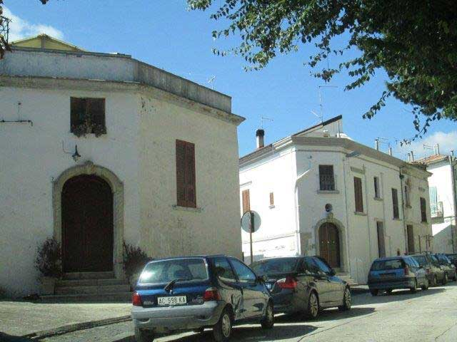 Exterior of the church in Bovino, Italy (Our Lady of Valleverde)