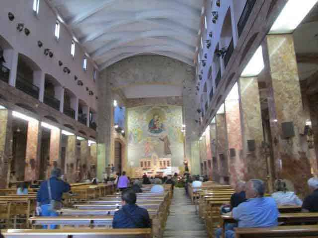 Mass at Padre Pio's old Church in San Giovanni Rotondo