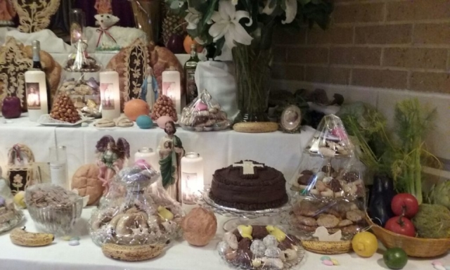 Some of the delicacies laid out on Saint Joseph's table