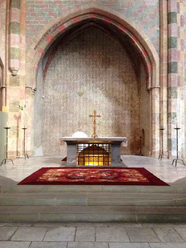 The tomb of Saint Thomas Aquinas here at the Jacobin Convent in Toulouse