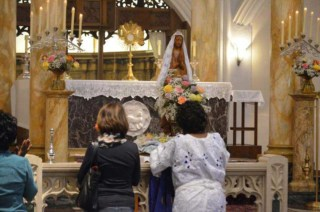 Visitors are welcome to stop by for adoration any time from 6:00 a.m. to 7;00 p.m. daily