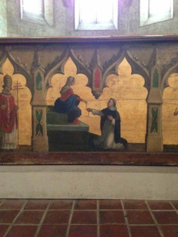 Additional look at some of the interior paintings in the Jacobin convent in Toulouse