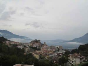 View of Oliveto Citra, Italy site of apparitions of the Blessed Virgin Mary