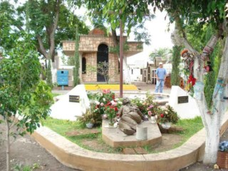 Shrine to Saint Jose Sanchez del Rio in the cemetery where he was martyred