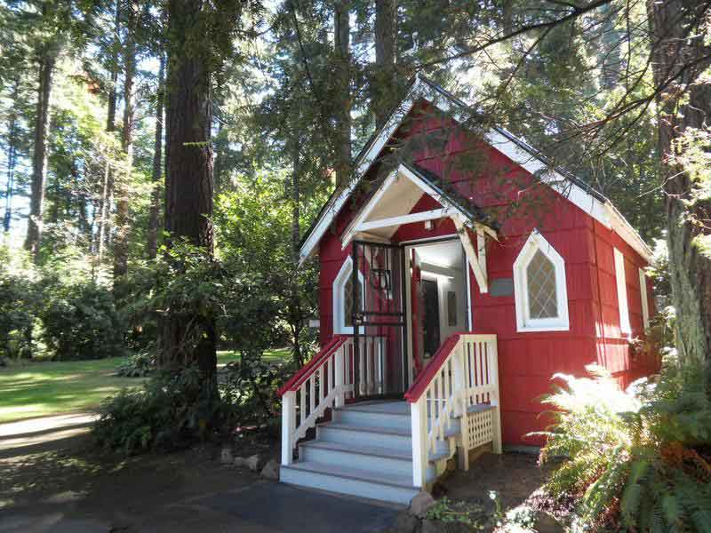 The tiny Chapel of Saint Anne at the Shrine of Our Sorrowful Mother in Portland, Oregon