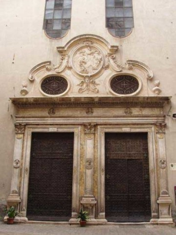 The exterior of the convent fo St. Catherine of Genoa belies the beauty inside