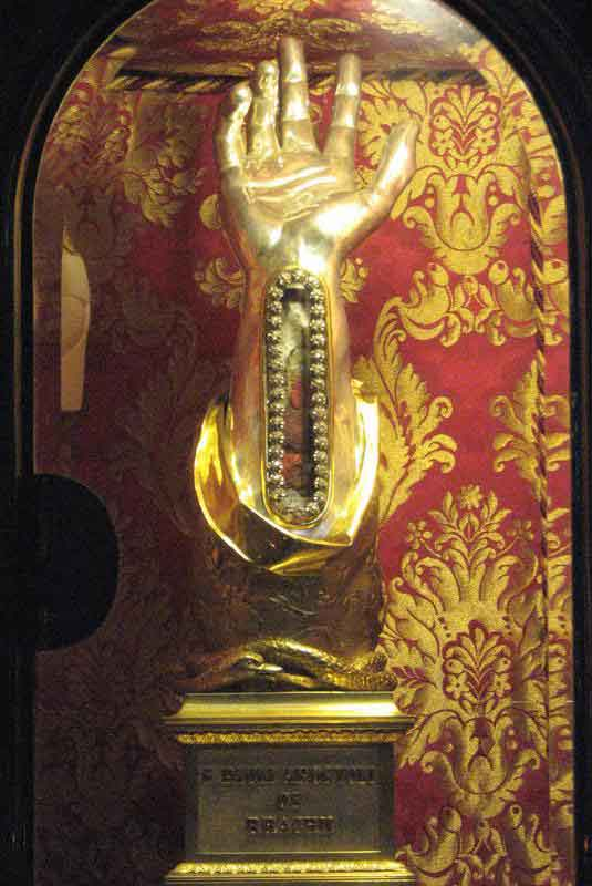 Reliquary containing the wrist bone of Saint Paul in Malta